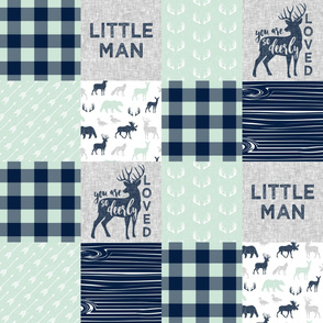 Little Man/So deerly loved -  mint Plaid  C19BS