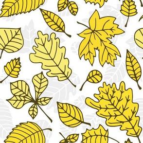 Doodle autumn leaves 1