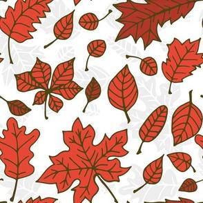 Doodle autumn leaves 6