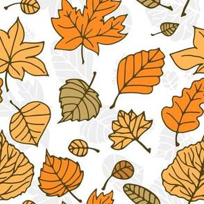 Doodle autumn leaves 7