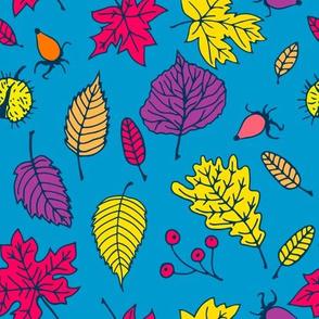 Doodle autumn leaves 4
