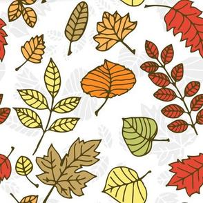 Doodle autumn leaves 5