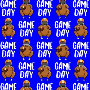 Game Day - Blue - Turkey with football - LAD19