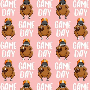 Game Day - pink - Turkey with football - LAD19