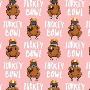 Turkey bowl -  pink - Turkey with football - LAD19