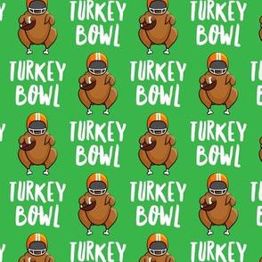 Turkey bowl - green - Turkey with football - LAD19
