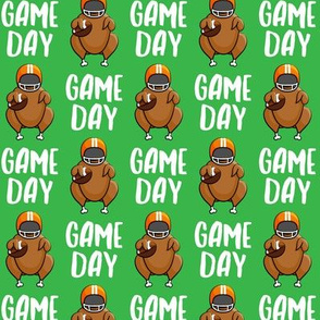 Game Day - green - Turkey with football - LAD19