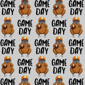 Game Day - grey - Turkey with football - LAD19