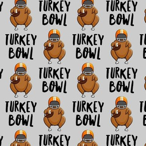Turkey bowl - grey  - Turkey with football - LAD19