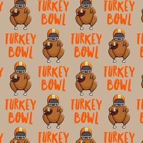 Turkey bowl - tan - Turkey with football - LAD19