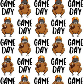 Game Day - white - Turkey with football - LAD19