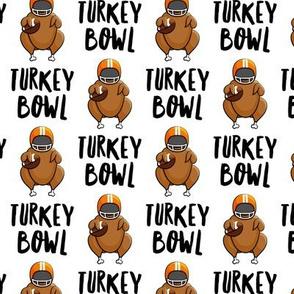 Turkey bowl - white - Turkey with football - LAD19