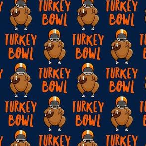 Turkey bowl - Blue - Turkey with football - LAD19