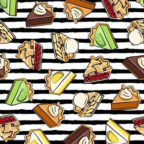 All the pie -  thanksgiving day desserts - pie slice - black stripes - LAD19