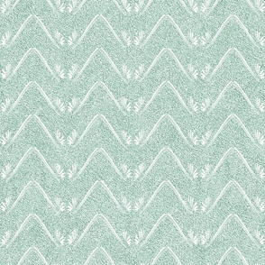 Petal Chevron in Velvety Green