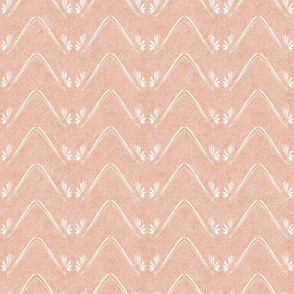 Petal Chevron in Velvety Pastel Adobe