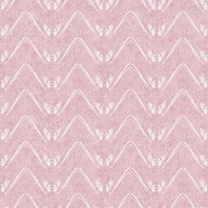 Petal Chevron in Velvety Powder Pink