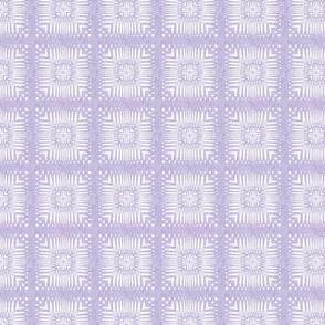 Aztec Squares in Velvety Lilac