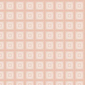 Aztec Squares in Velvety Pastel Adobe