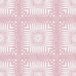 Aztec Squares in Nappy Powder Pink