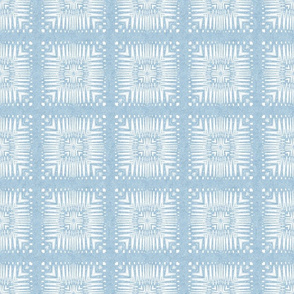 Aztec Squares in Nappy Powder Blue
