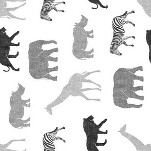 safari animals - monochrome (90) C19BS