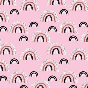 Rainbow magic sky make a wish abstract trend print stone soft pale pink MEDIUM