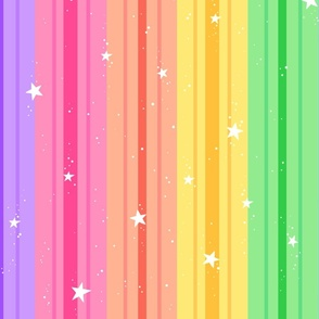 Stripes N' Stars in Rainbow 2X