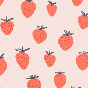 strawberries red and pink