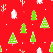 Bright Christmas Tree Doodles