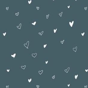 Hand Drawn Bohemian Sketch Hearts