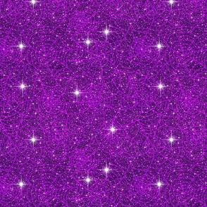 Purple spider web sparkle