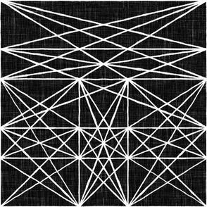Chalk Strings - white & black