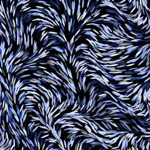 Dark Blue floral