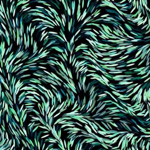 Dark green floral pattern