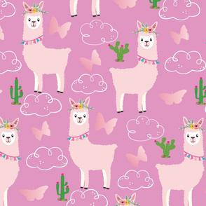 Llama_pink