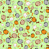 pattern with kitten