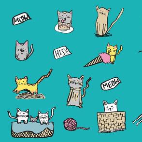 "Creative Sofa-Spoonflower Feline Frenzy Pattern Design Competition 07_19 150dpi 22x18"""