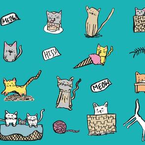 Feline Frenzy Cheeky Cats