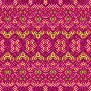 Hot Pink Random Mosaic