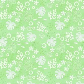 green aloha coral - medium
