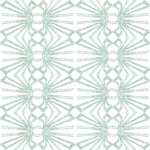 Spider Web Lace Reversed in Pastel Green