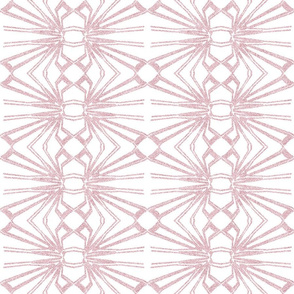 Spider Web Lace Reversed in Powder Pink