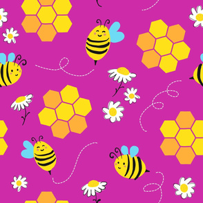 spring bee - pink