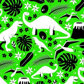 Dino-roar! (Green and white)
