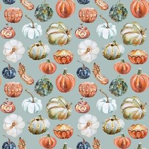 """4"""" Organic Pumpkins // Tower Gray Blue"""