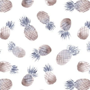 So tender pineapples • watercolor pastel tropical pattern