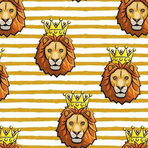 Lion - king - crowned - gold stripes - LAD19