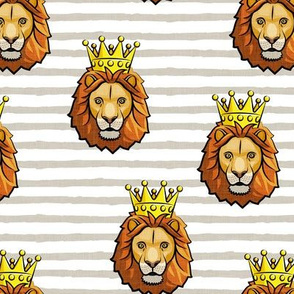 Lion - king - crowned - tan stripes - LAD19