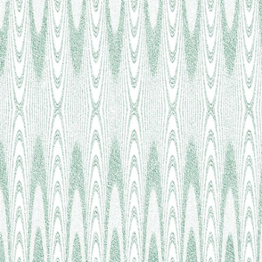 Striped Arches in Velvety Green and White